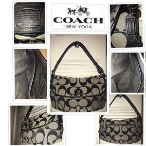 Authentic Coach Signature Jacquard Canvas bag